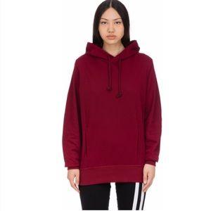 RARE Adidas XbyO Japanese terry burgundy Hoodie